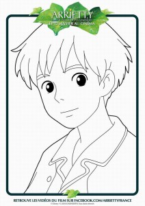 Coloriage sho Arrietty