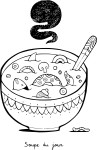 Coloriage soupe