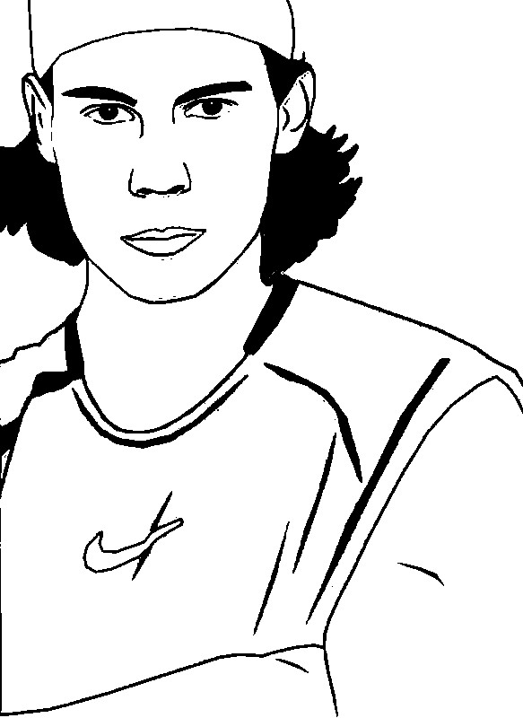 Coloriage Tennis Nadal
