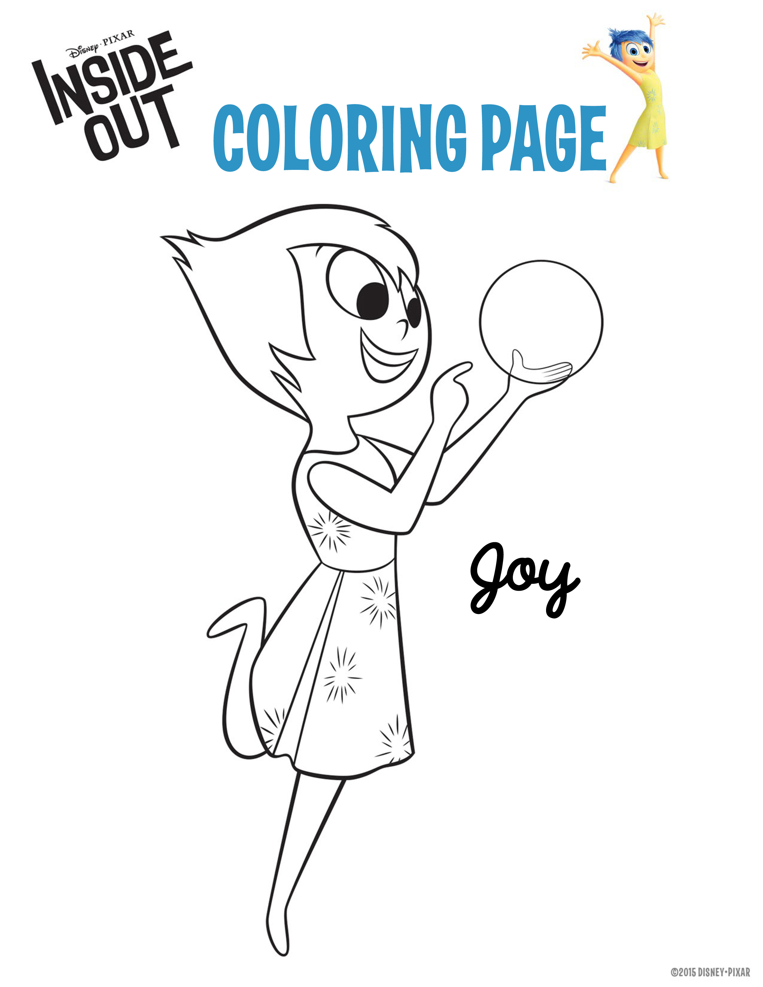 Coloriage Vice Versa la joie