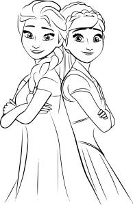 Elsa et Anna dessin