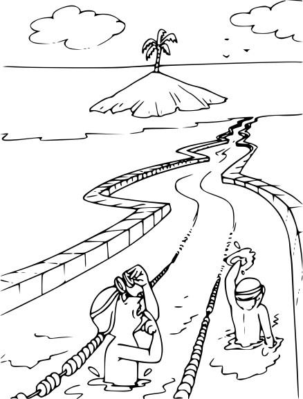 Natation dessin