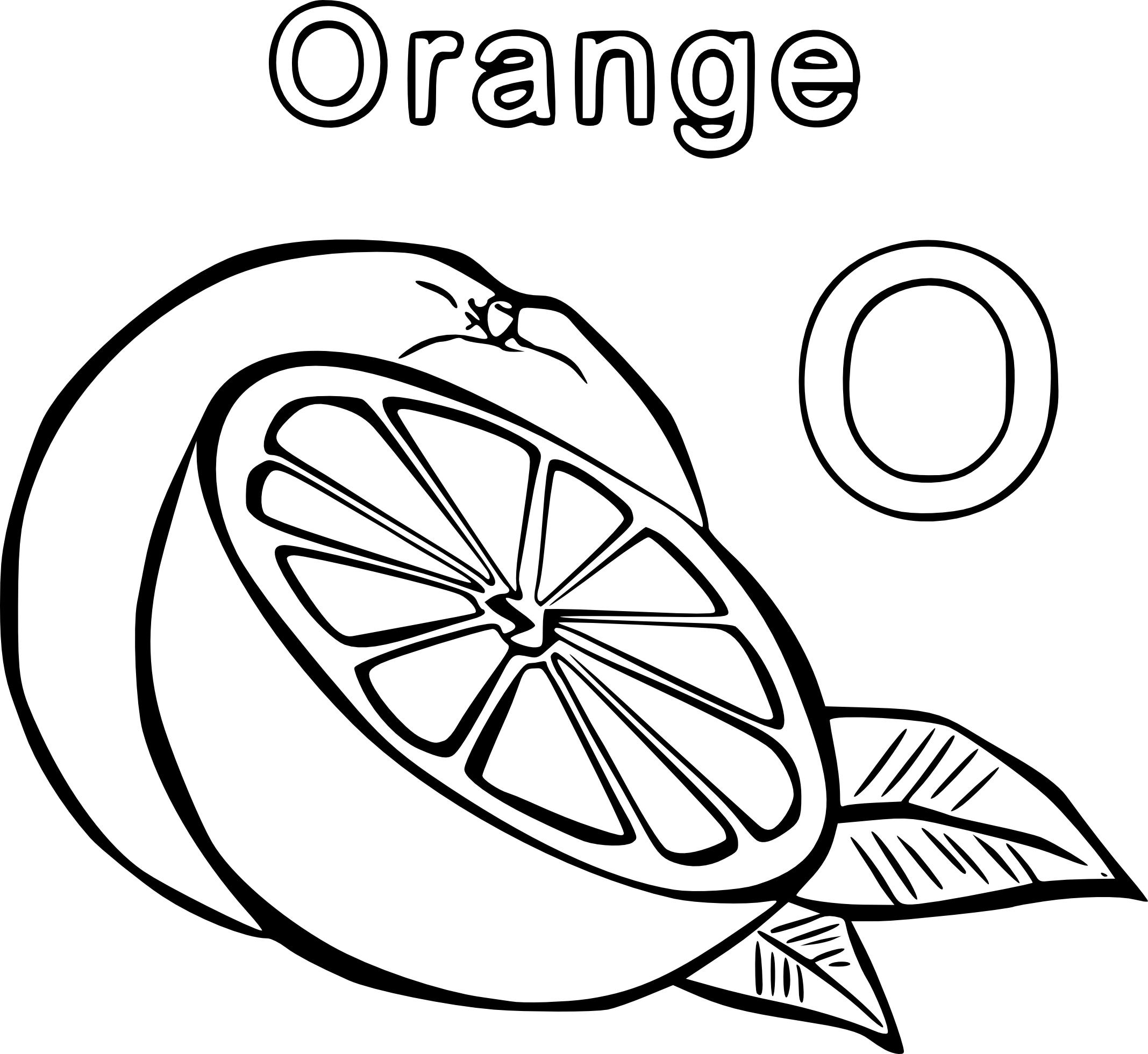 Coloriage orange et dessin à imprimer