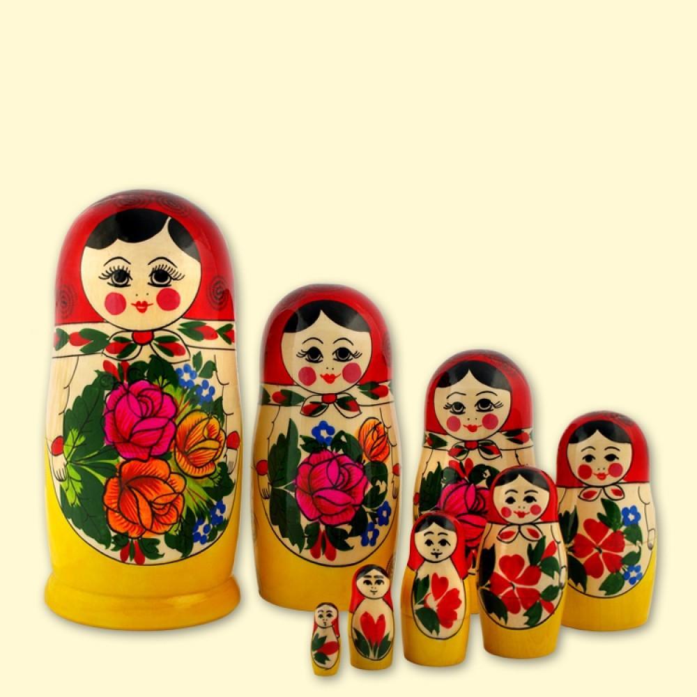 Coloriage poup e russe imprimer for Poupee russe
