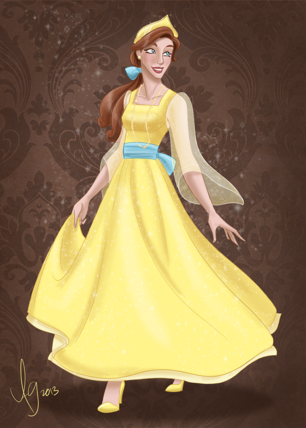 Coloriage princesse anastasia à imprimer