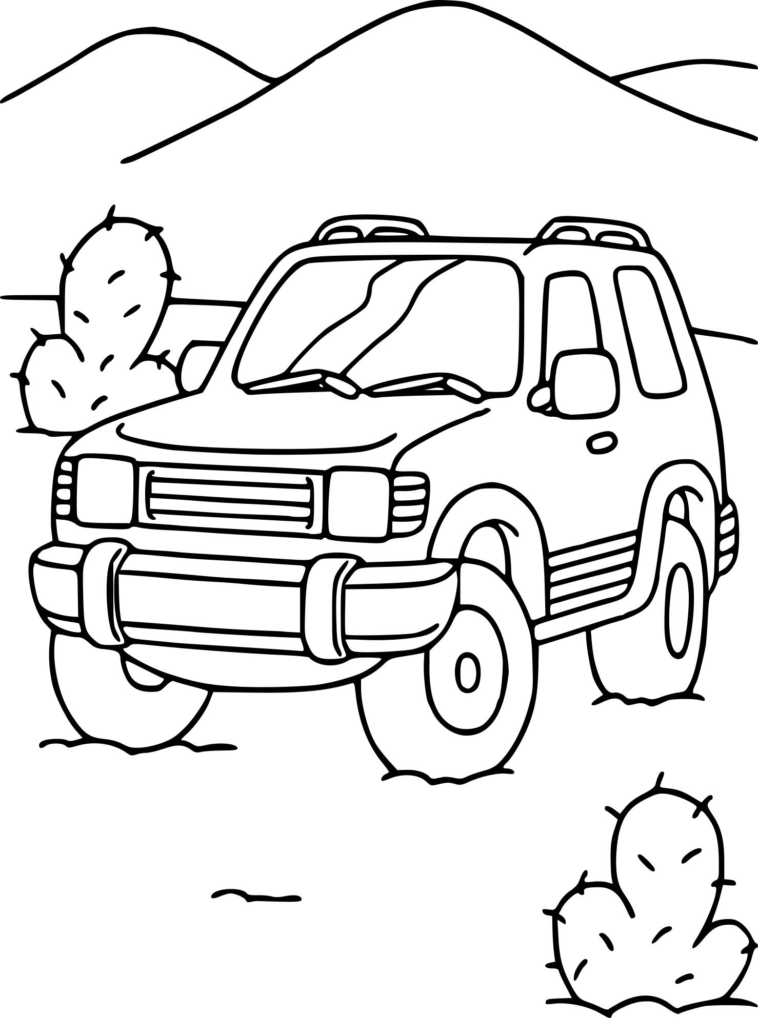 coloriage 4x4 et dessin