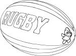 Coloriage ballon de rugby