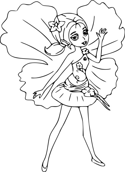 Coloriage Barbie Chrysella