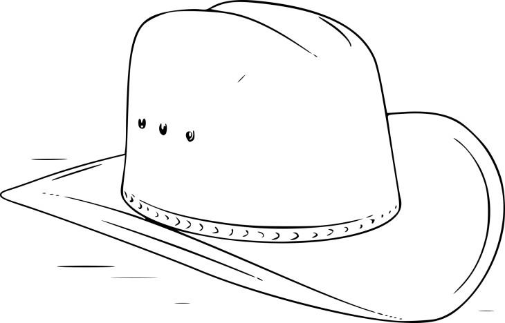 Coloriage chapeau de cowboy imprimer - Dessin de cowboy ...