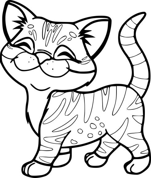 Coloriage chaton