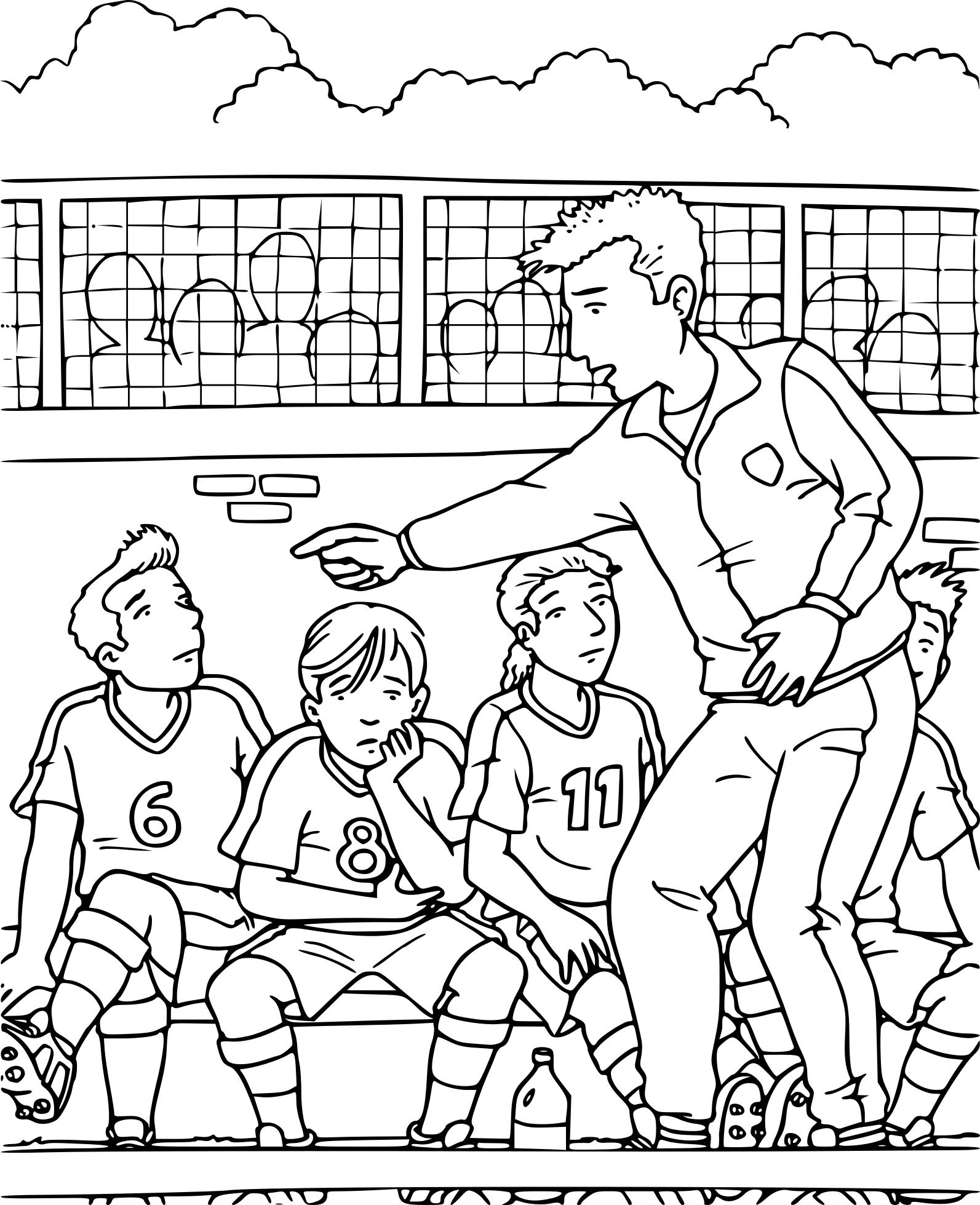 Coloriage coach de foot