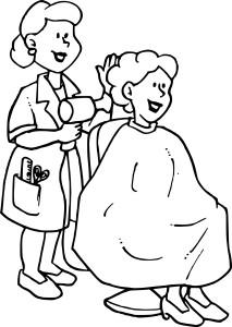 Coloriage coiffeur
