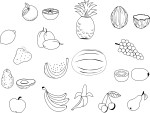 Coloriage de fruits