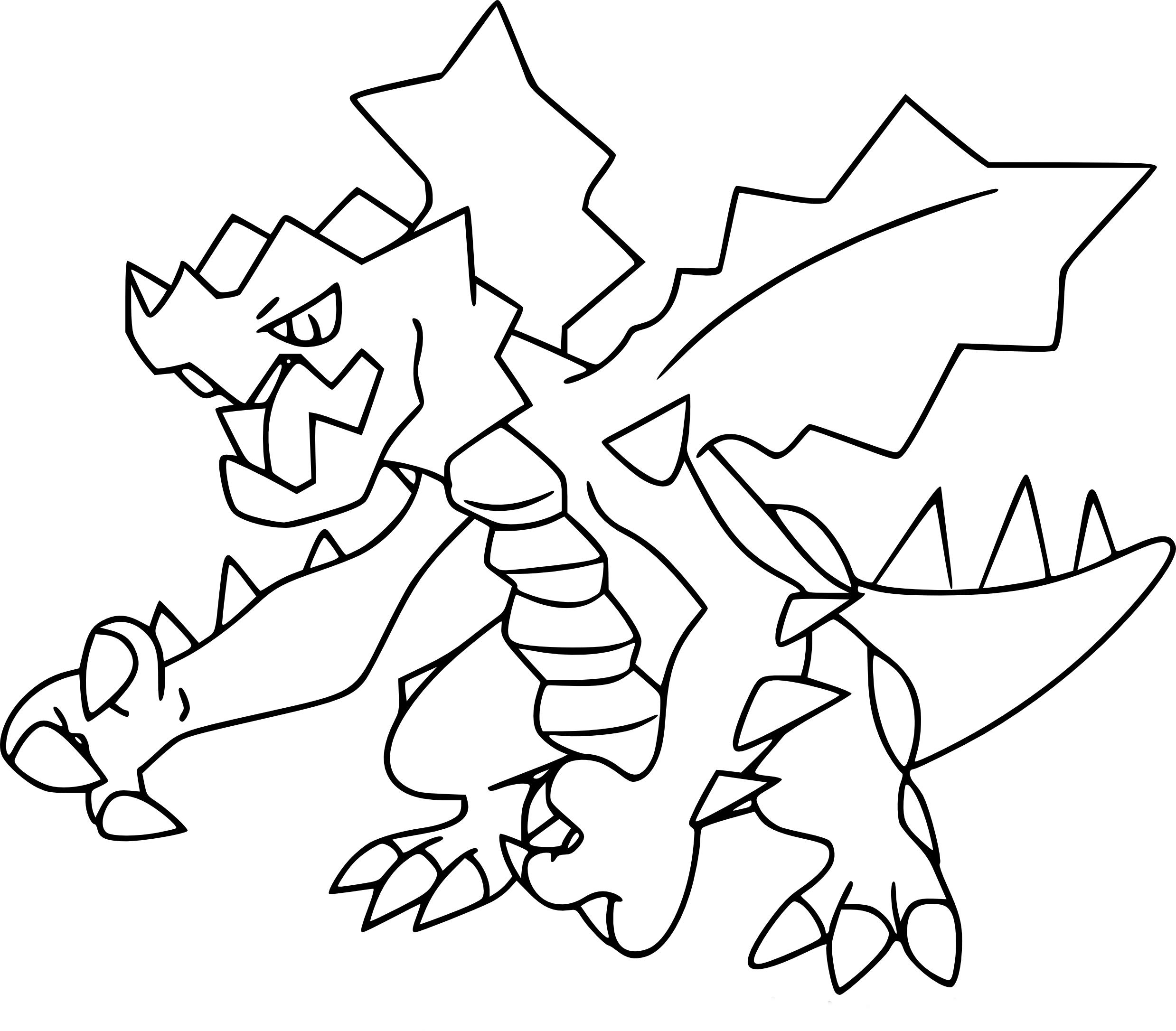 Coloriage drakkarmin pokemon imprimer - Coloriage pokemon imprimer ...