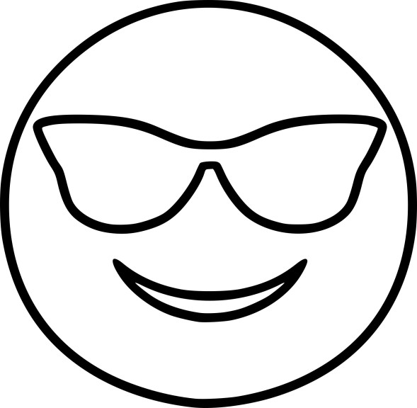 Coloriage Emoji cool