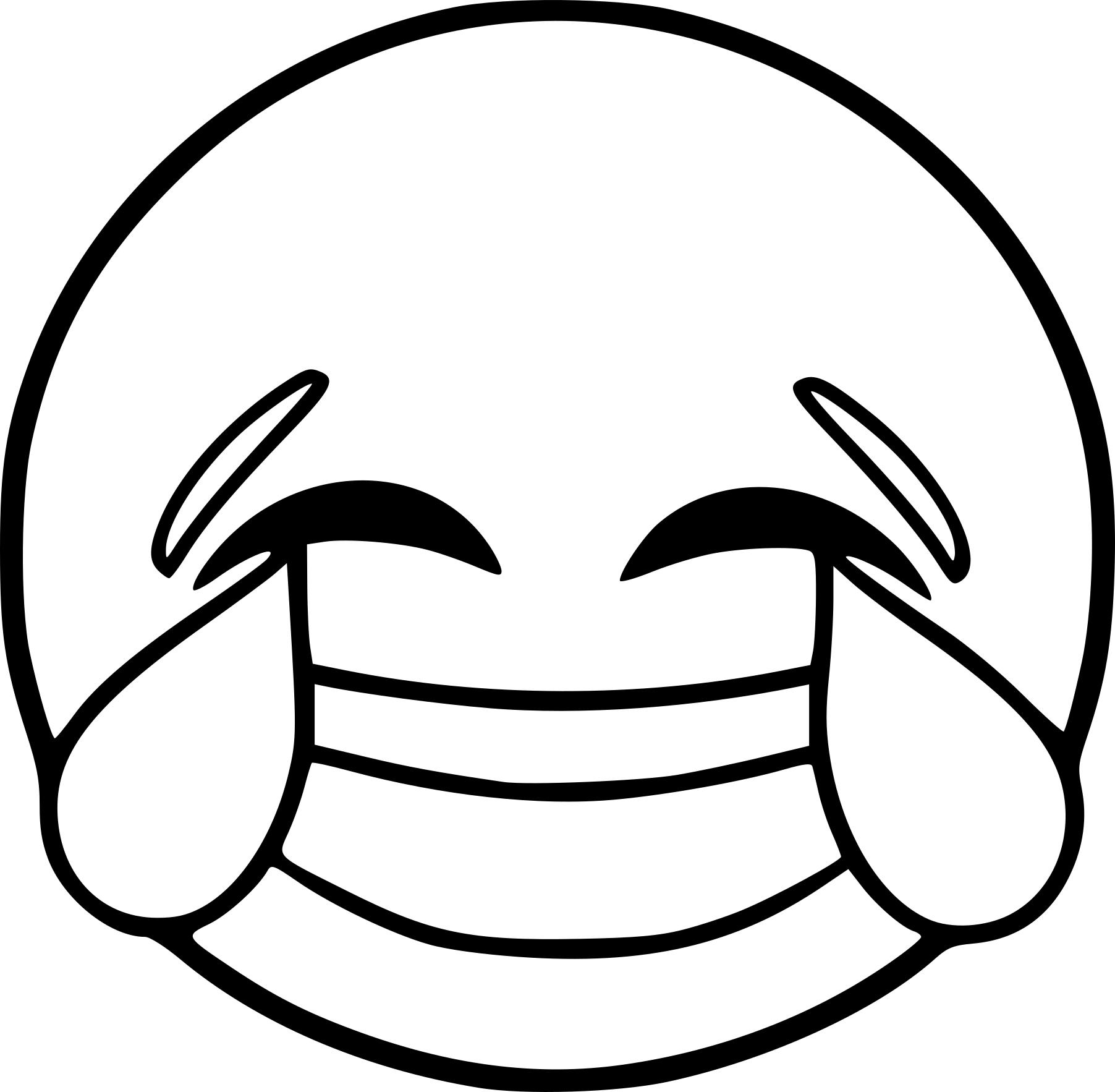 Coloriage Emoji rire