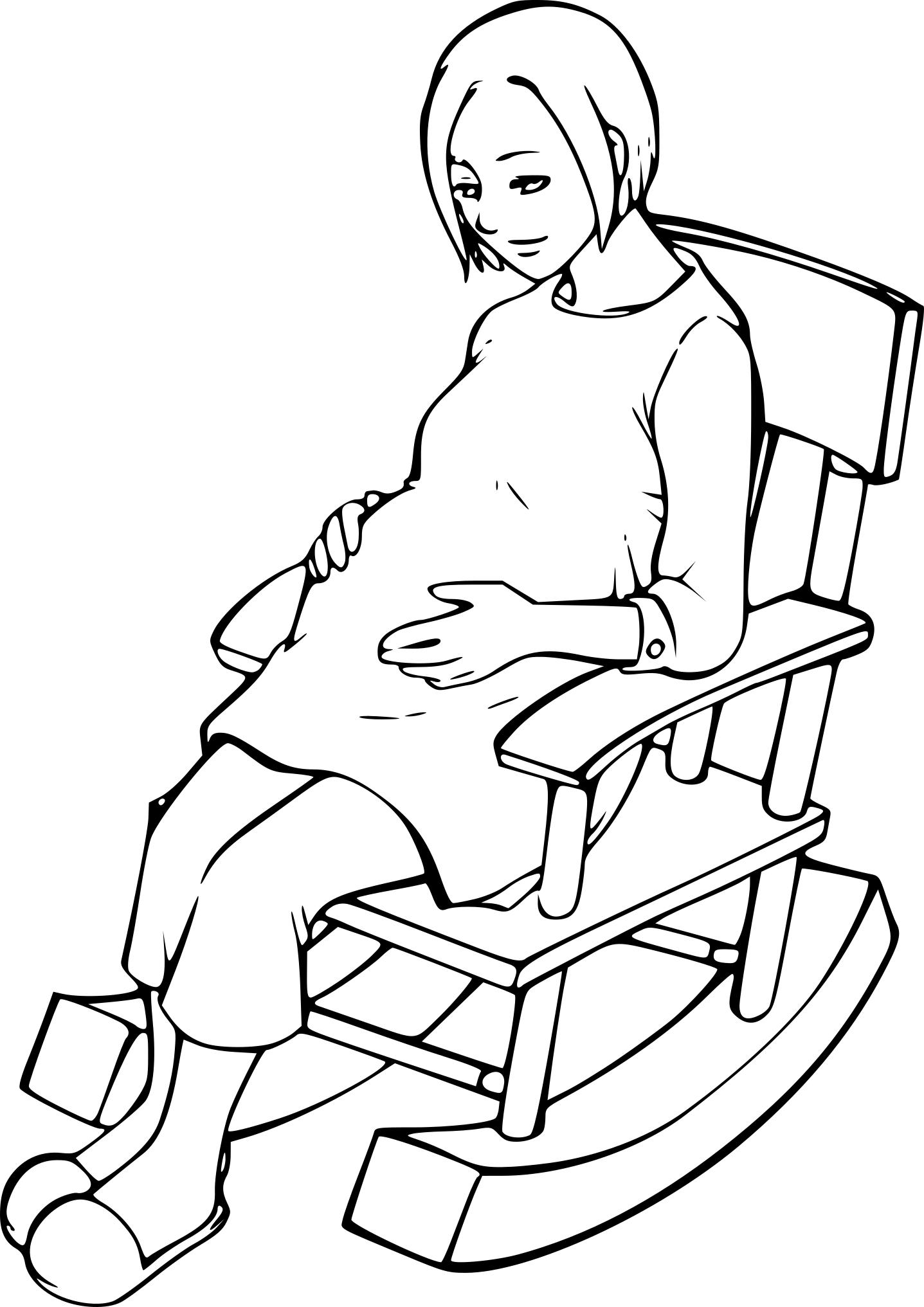 Coloriage femme enceinte