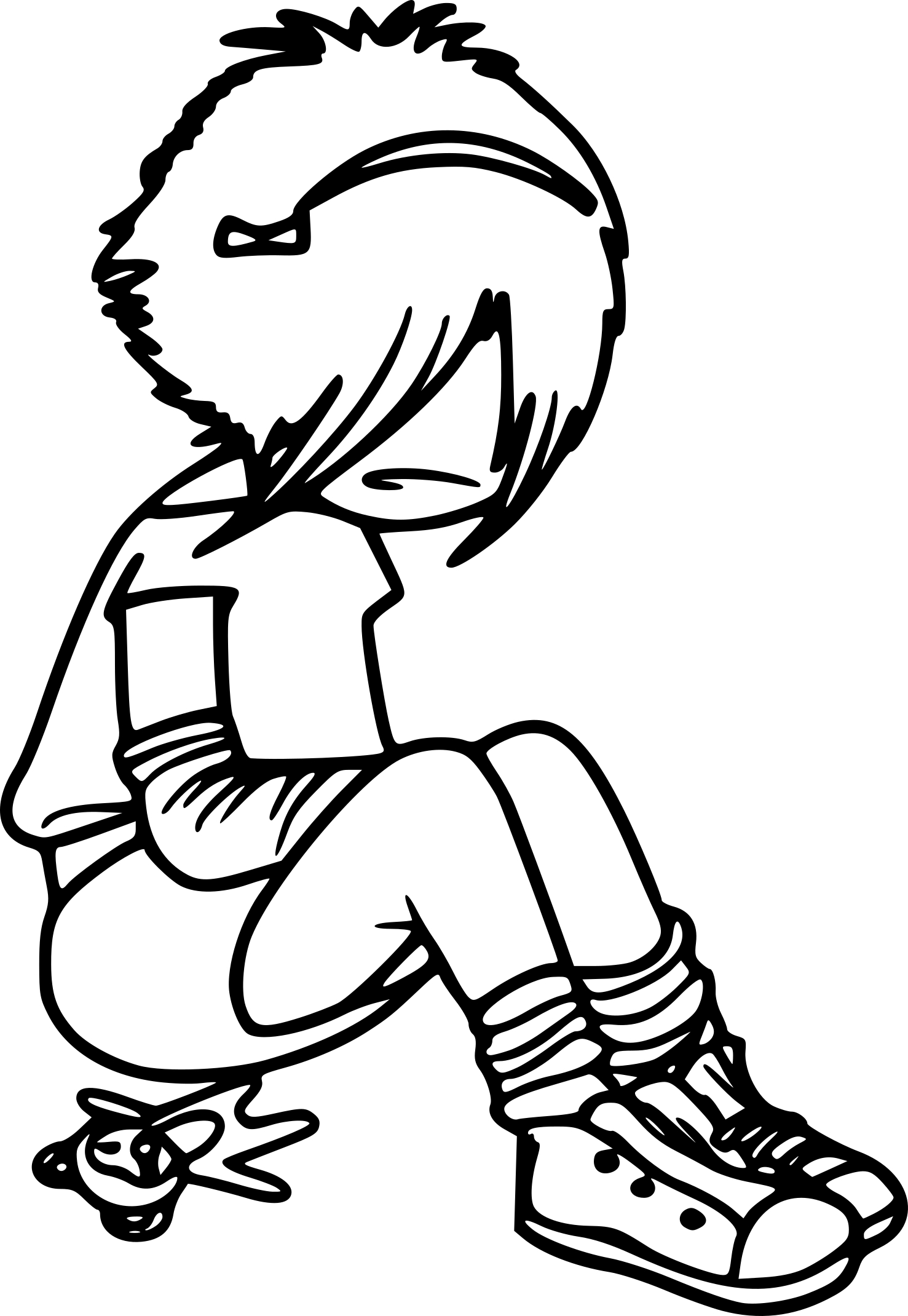 Coloriage fille Emo