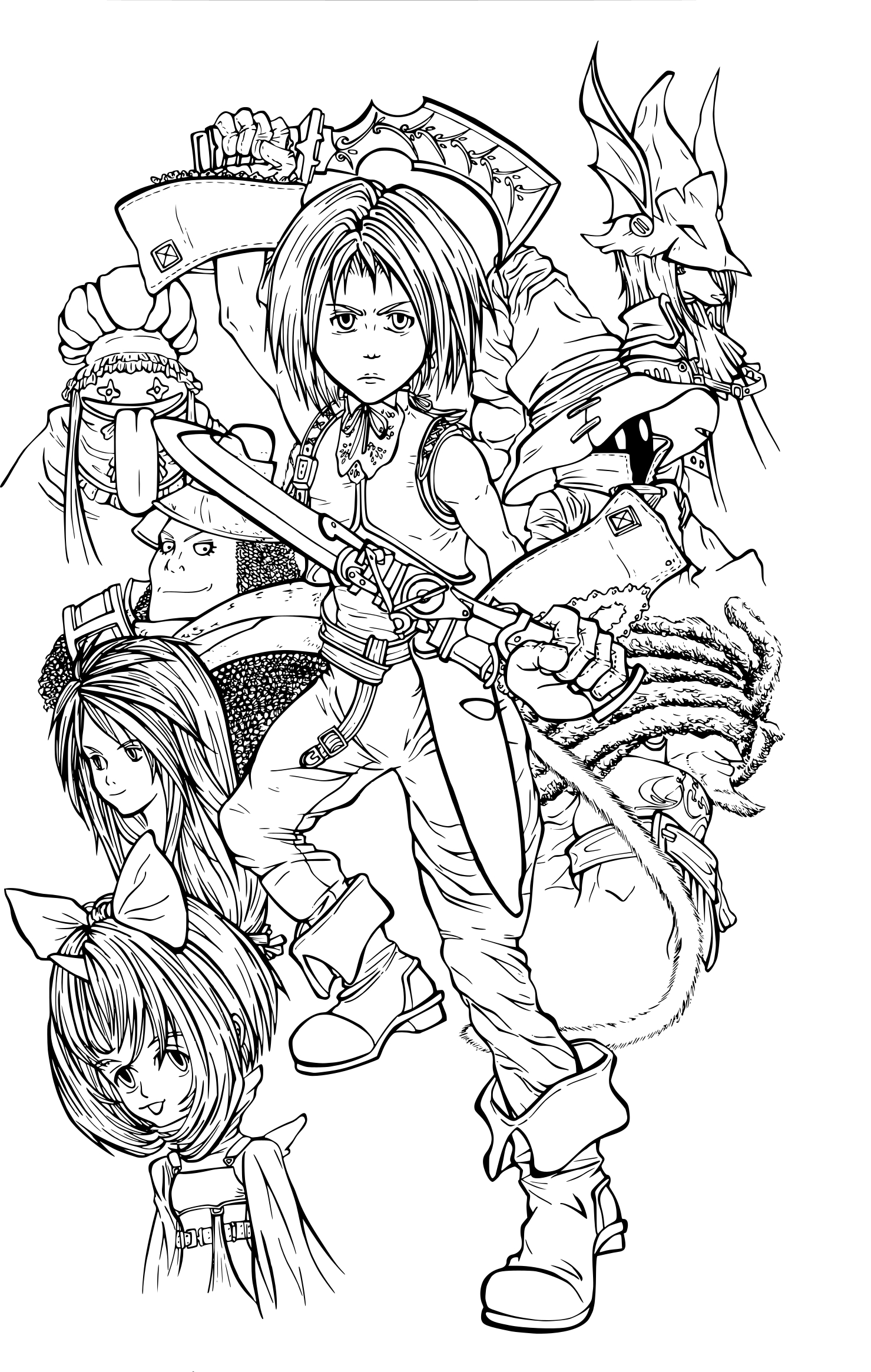 Coloriage Final Fantasy