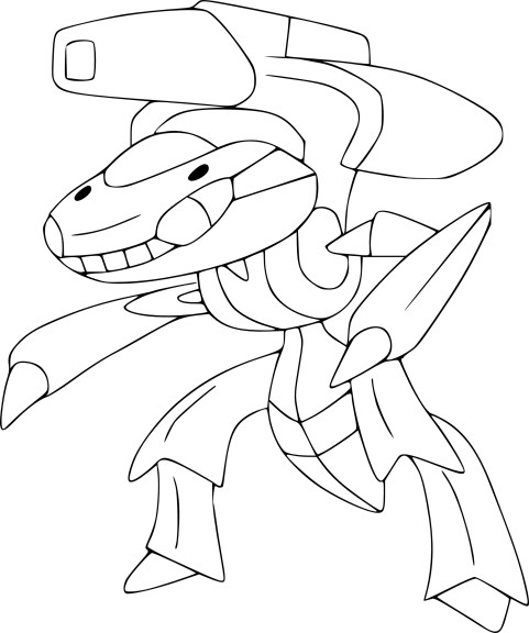 Coloriage Genesect