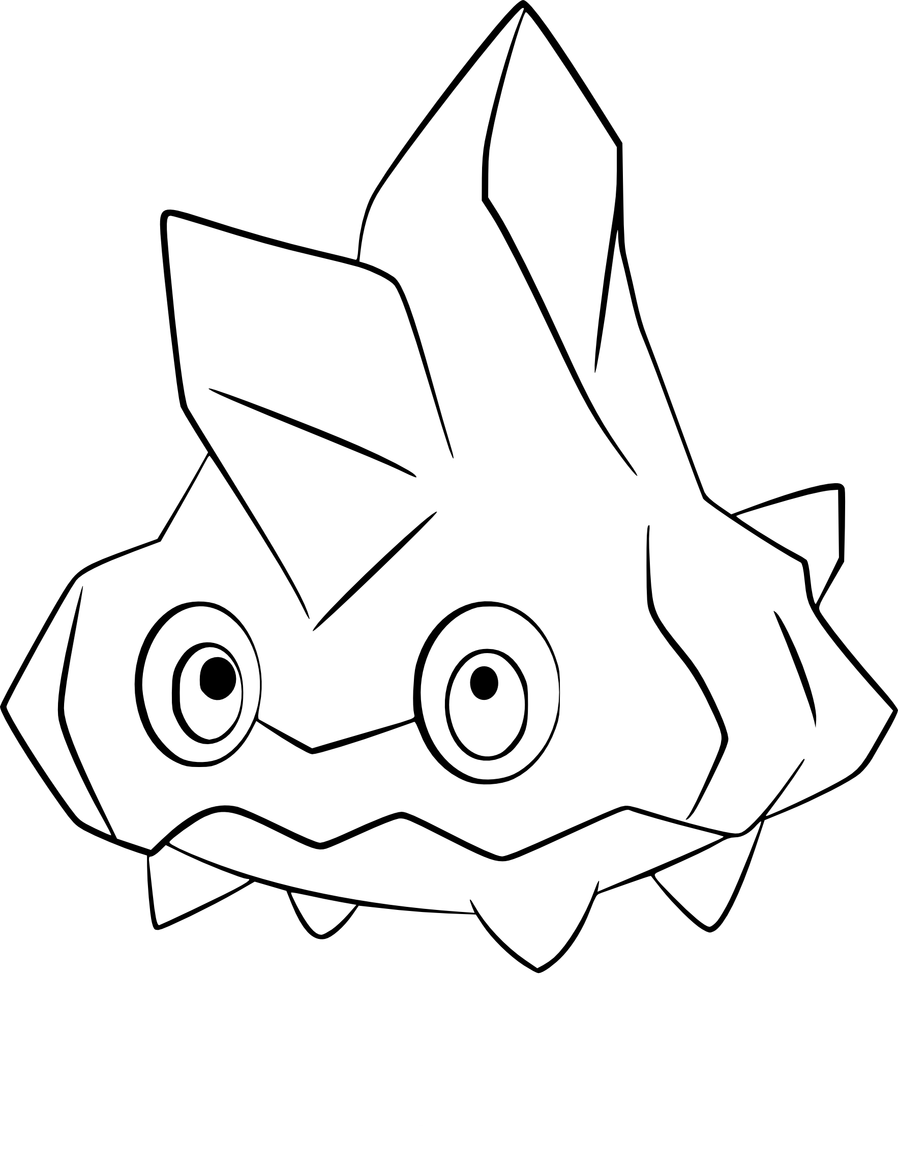 Coloriage Vorasterie Pokemon A Imprimer