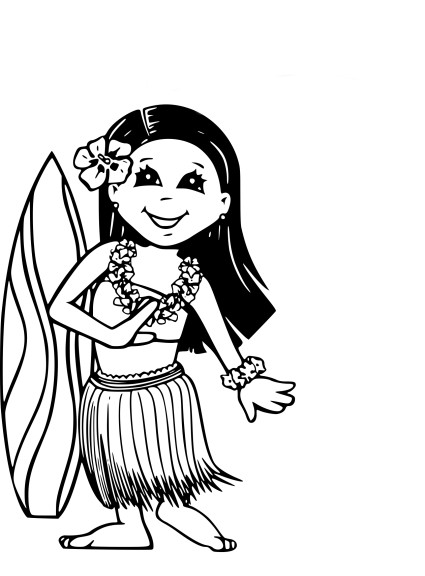 Coloriage Hawaii