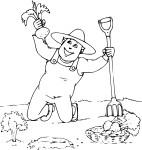 Coloriage jardinier