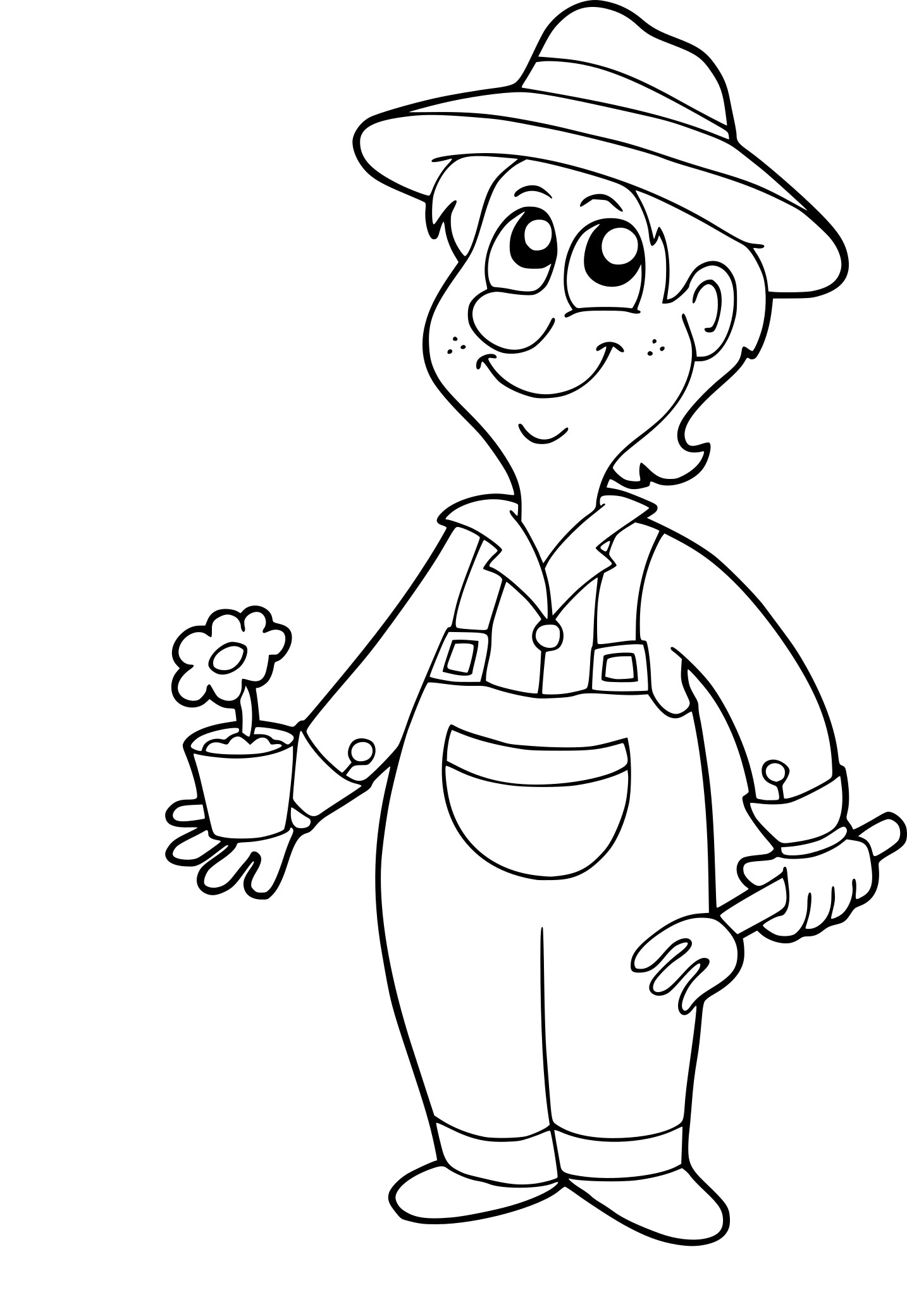 Coloriage le jardinier