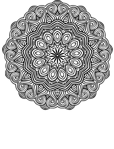 Coloriage mandala ethnique