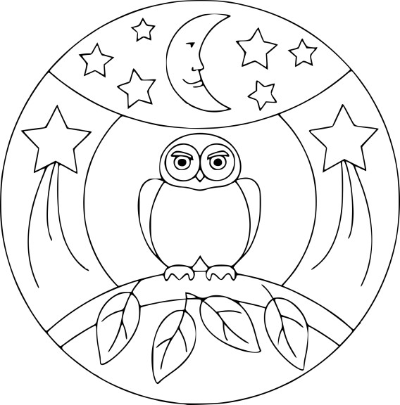 coloriage mandala hibou imprimer. Black Bedroom Furniture Sets. Home Design Ideas
