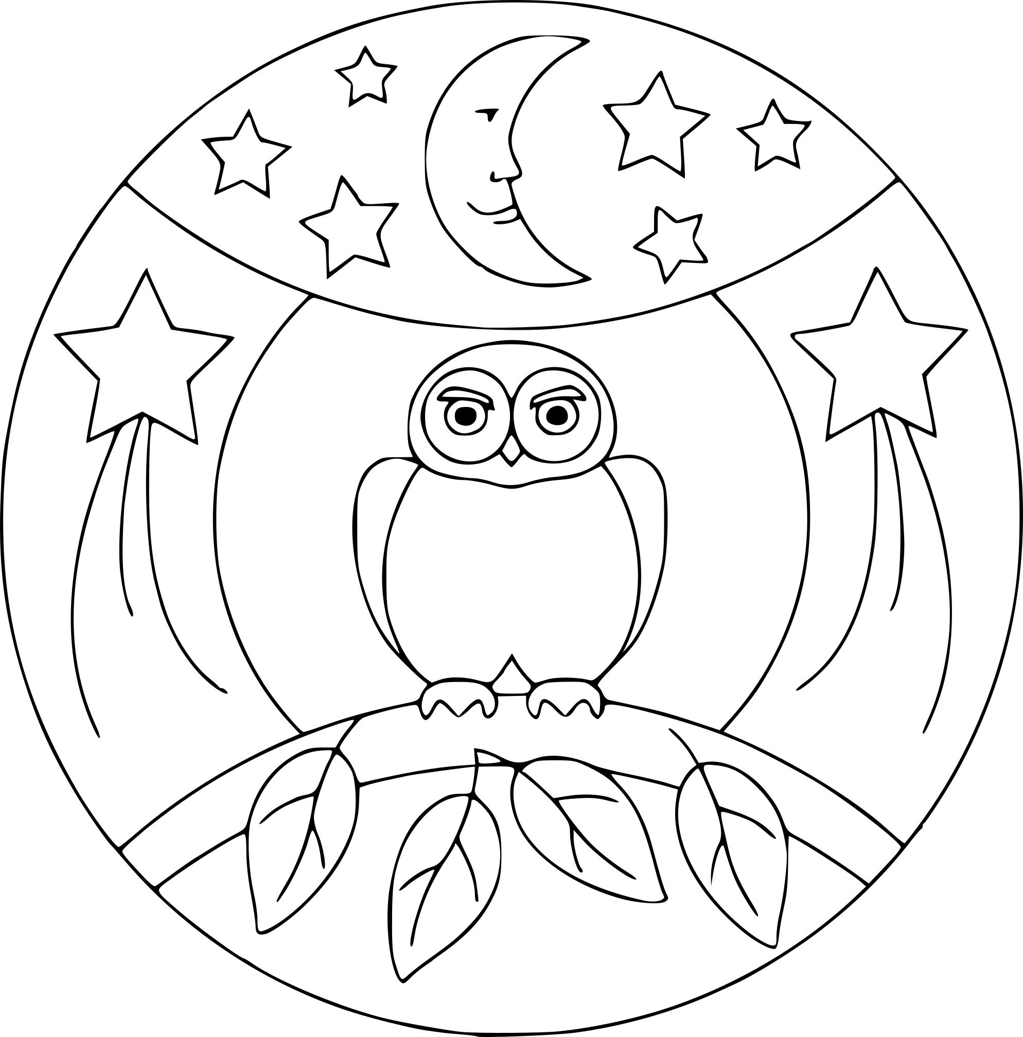 Beau Dessin à Imprimer Mandala Hibou