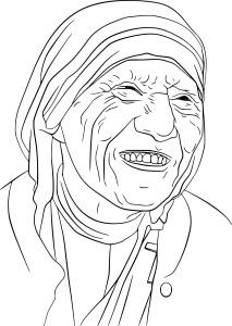 Coloriage Mere Teresa