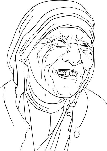 Coloriage Mere Teresa imprimer