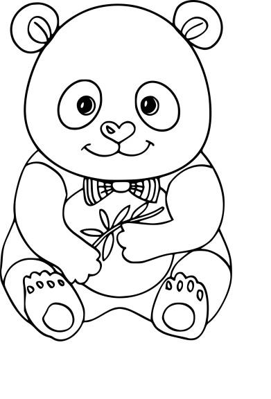 Coloriage panda à imprimer