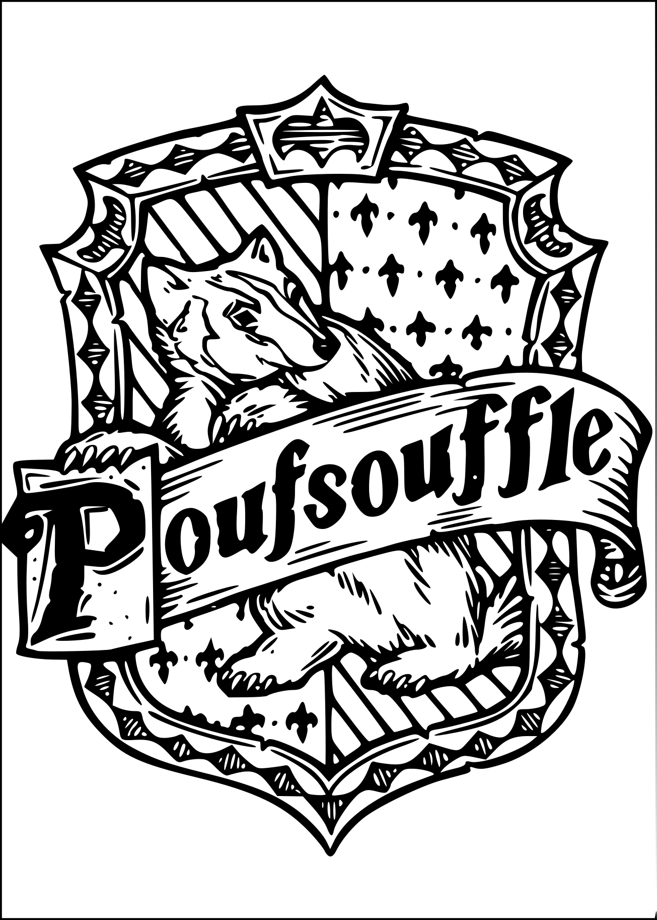 Coloriage Poufsouffle Harry Potter A Imprimer