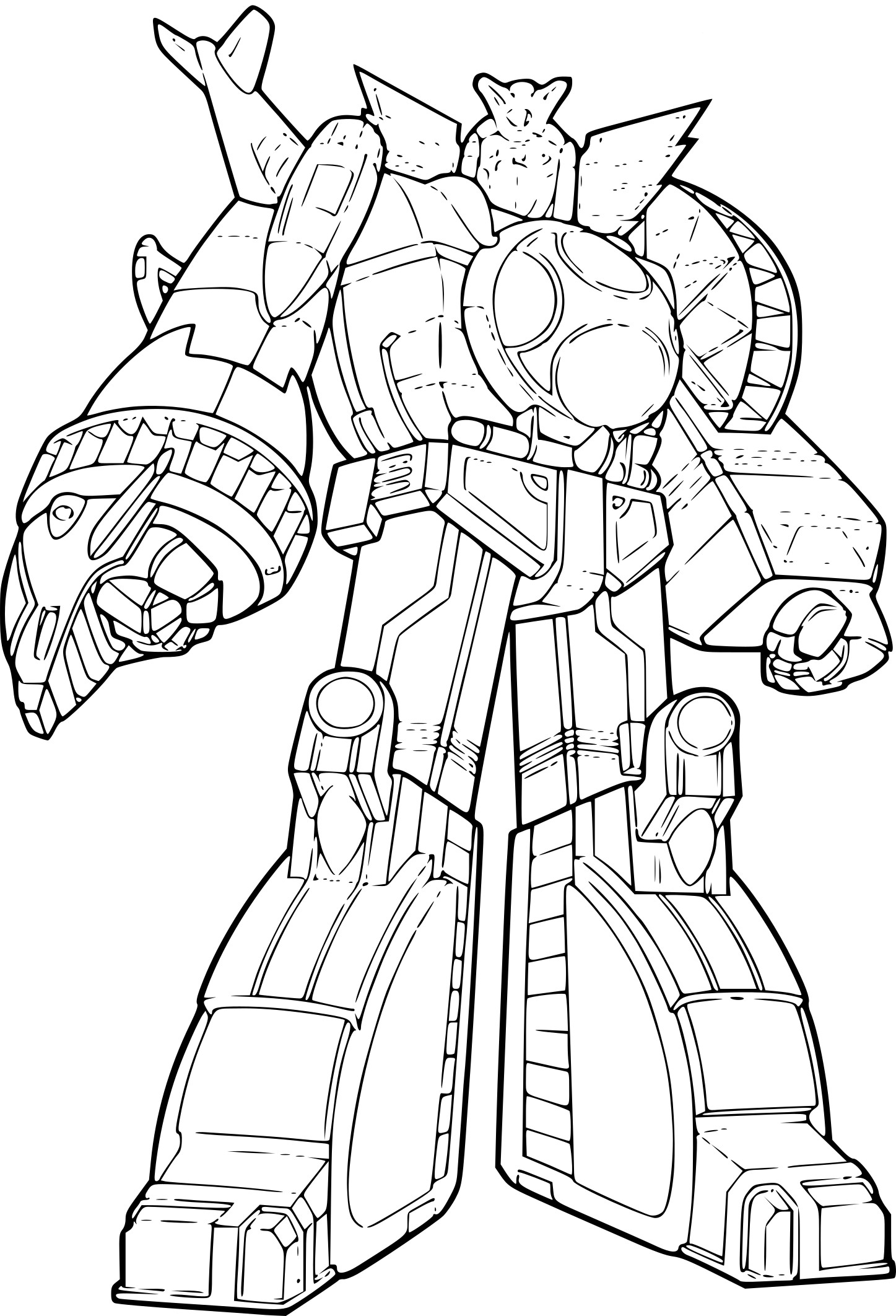 Coloriage Power Rangers Jungle Fury