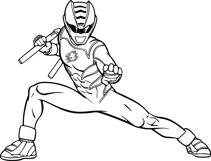 Coloriage Power Rangers rouge