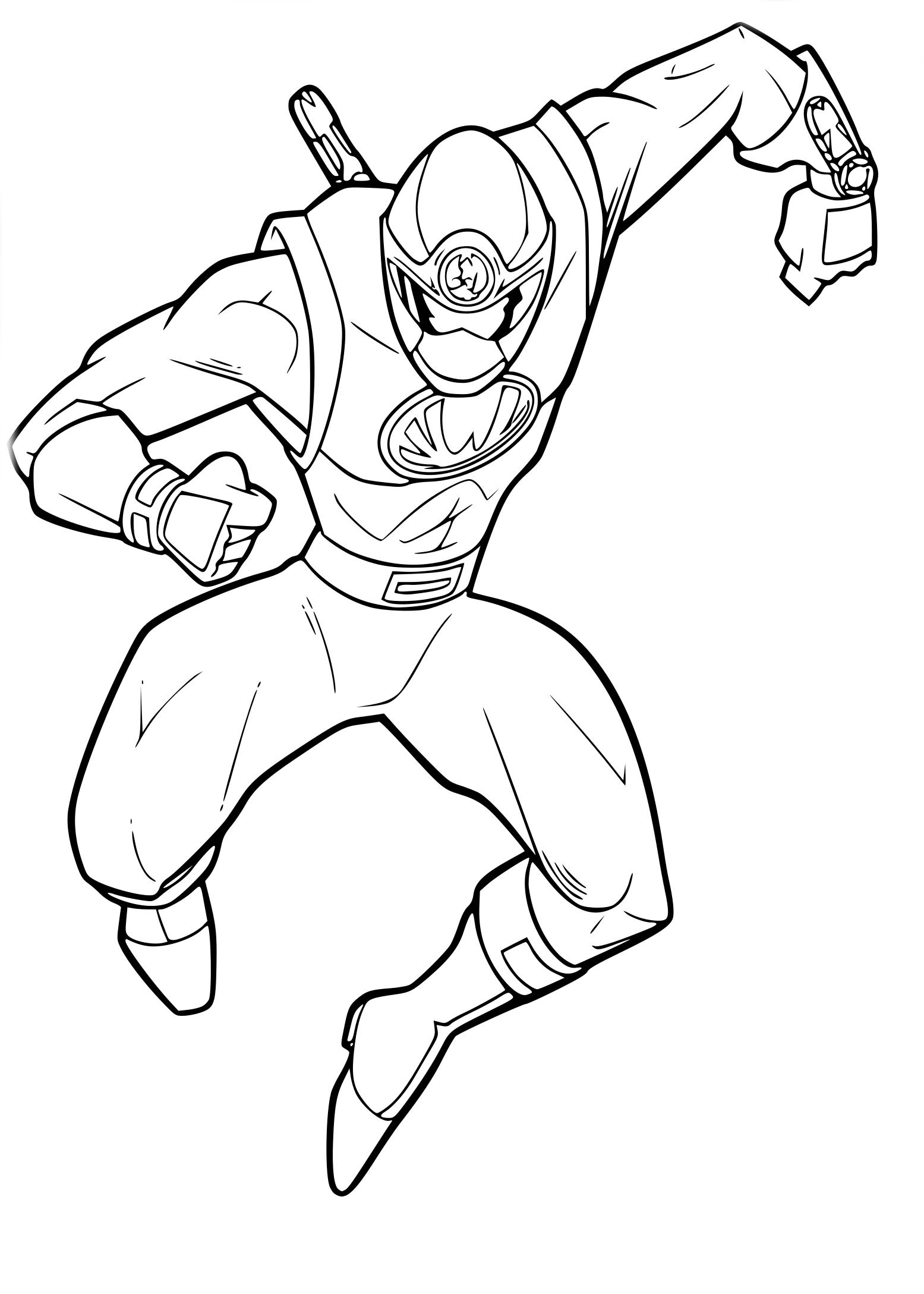 Coloriage Power Rangers Samurai
