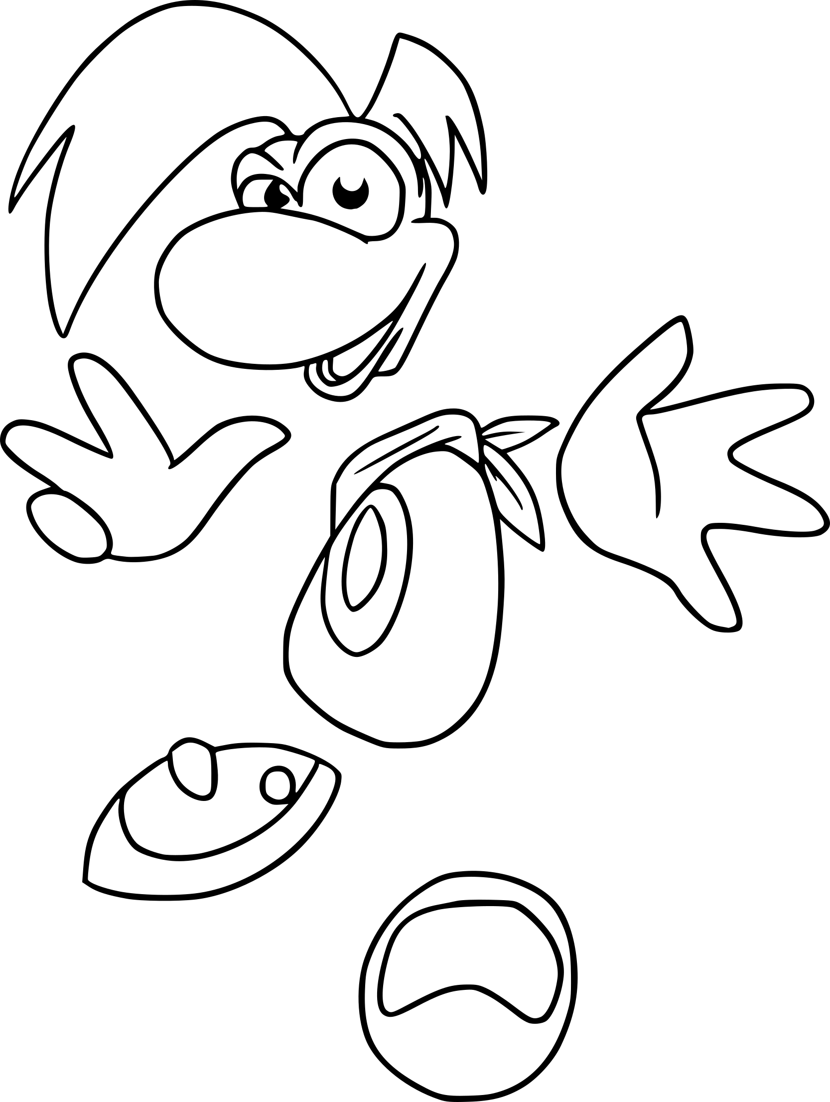 Coloriage Rayman