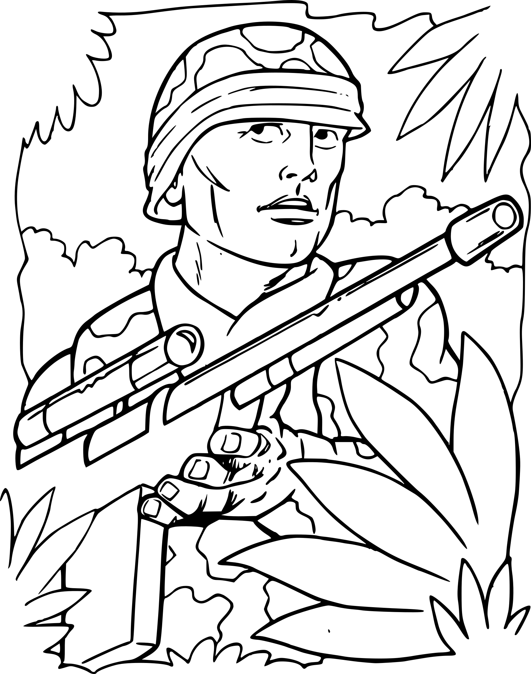 Coloriage soldat de guerre imprimer - Des dessins a imprimer ...