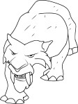 Coloriage tigre Age de glace
