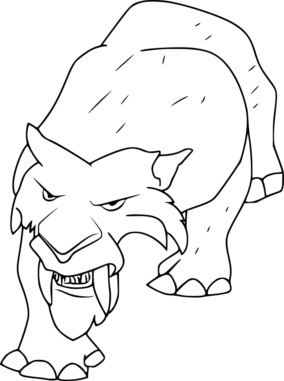 Coloriage Tigre Age De Glace A Imprimer