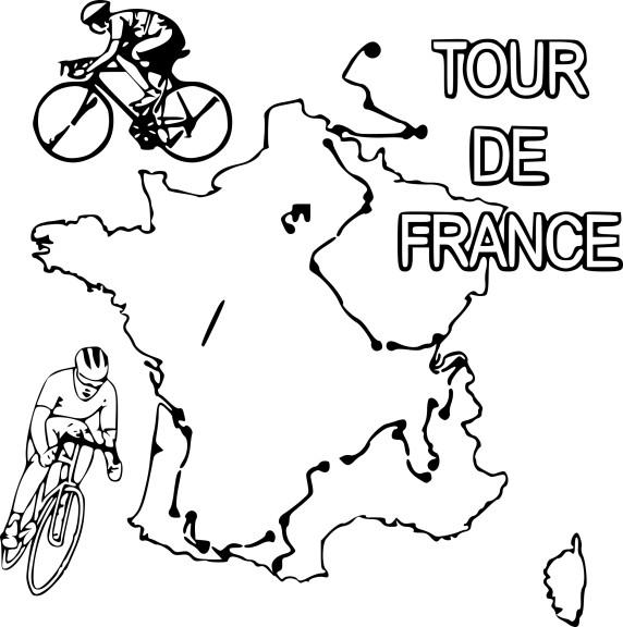 Coloriage Tour de France