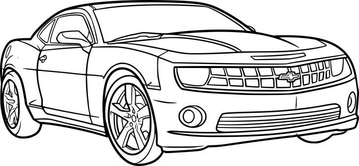 Coloriage voiture Camaro à imprimer