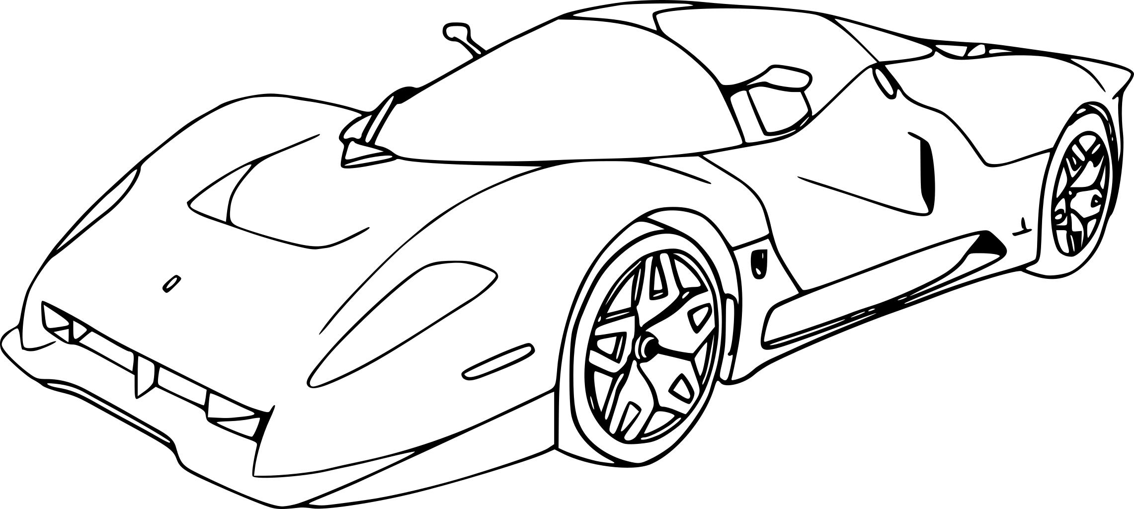 coloriage voiture de course ferrari