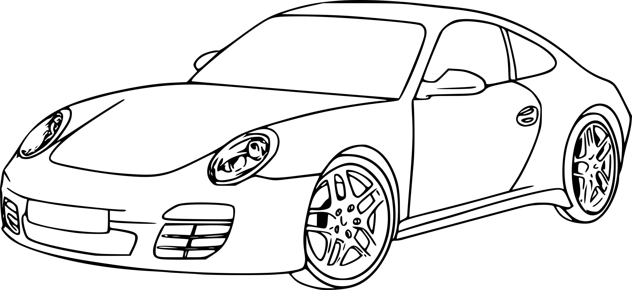 coloriage voiture de luxe