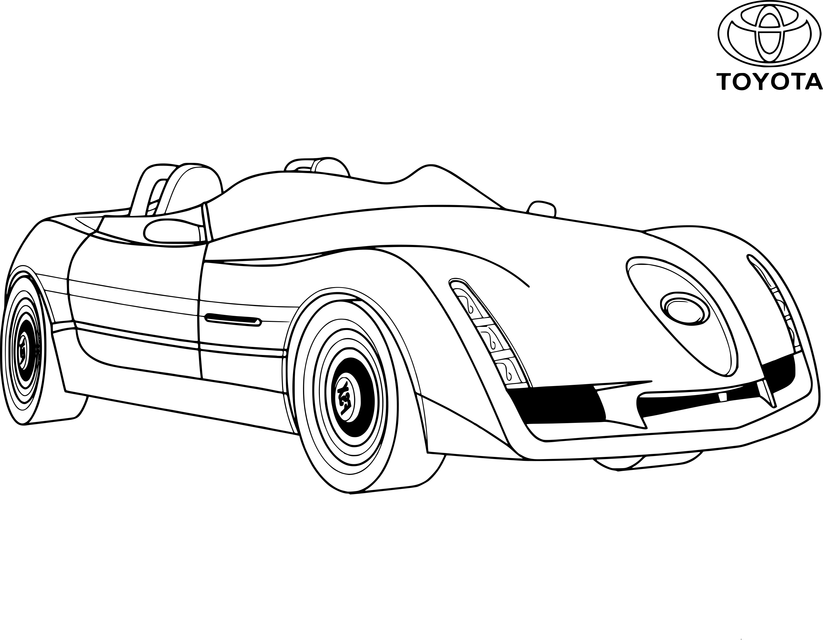 coloriage voiture toyota