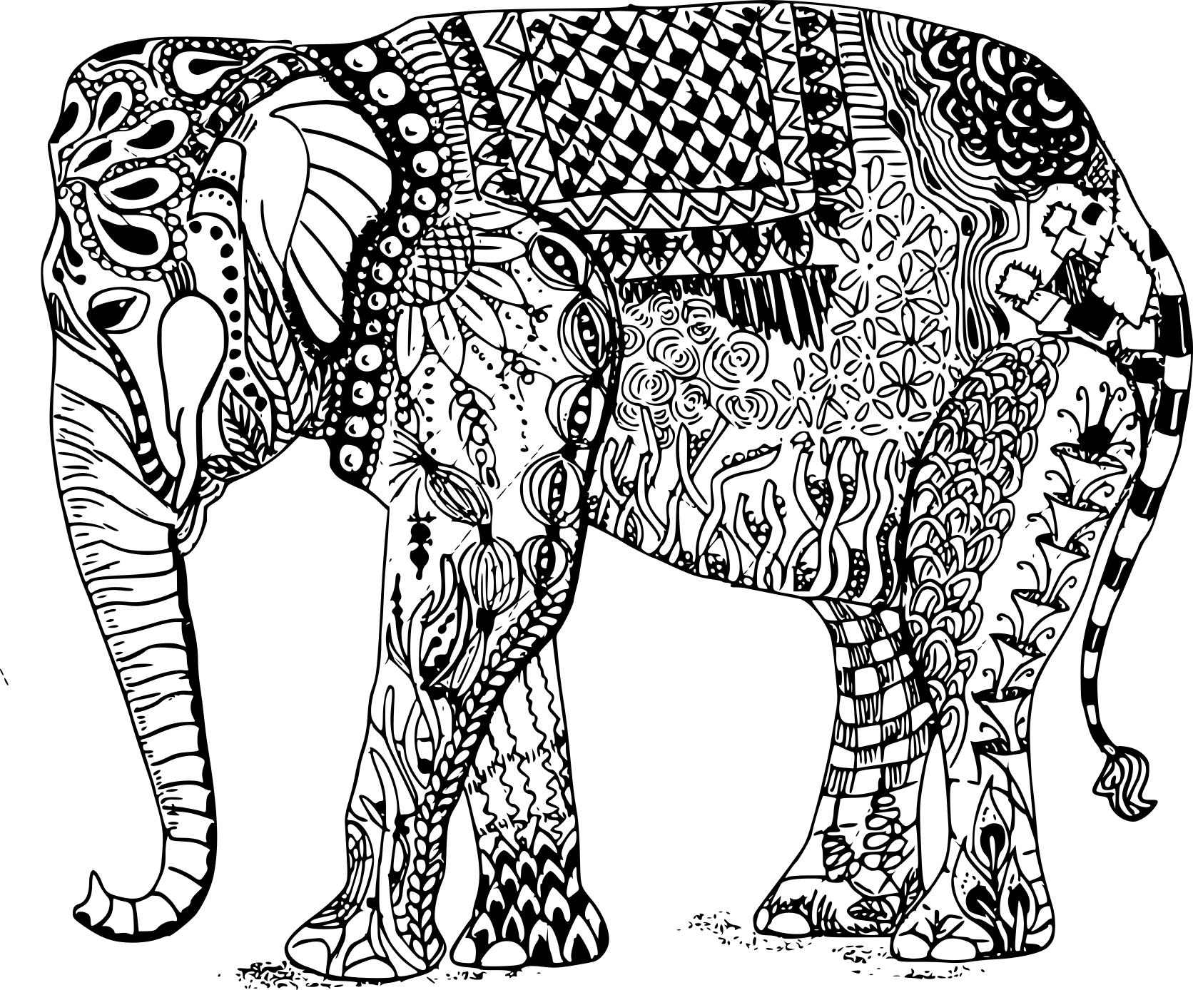 coloriage zen animaux