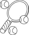 Raquette de tennis dessin