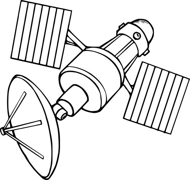 Coloriage Satellite Et Dessin 224 Imprimer